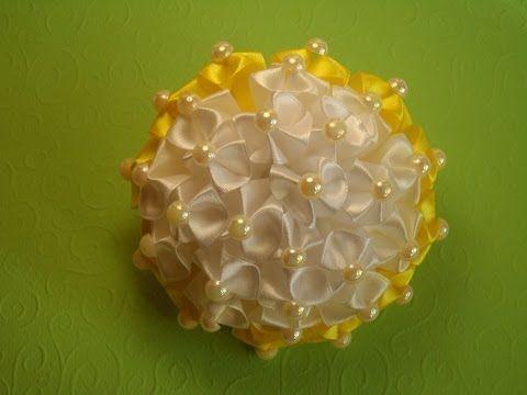 D.I.Y. Organza Hydrangea Flower Headband - Tutorial - YouTube
