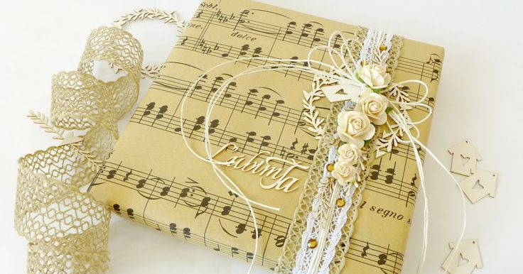 gift wrapping and cards in vintage style