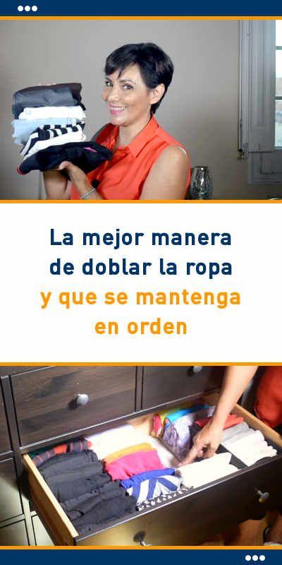 La mejor manera de doblar la ropa y que se mantenga en orden #orden #armarios #ropa #doblar