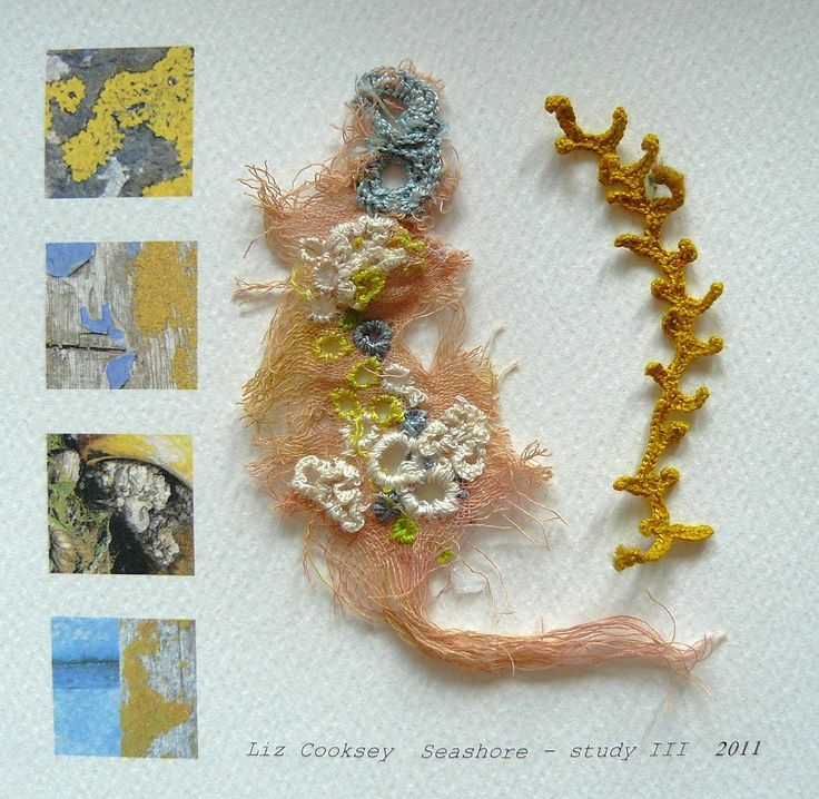 Gallery II Sketchbook Studies Textiles Inspiration with thanks to Fibre Artist Liz Cooksey, Textile Artist Inspiration for Art School and Developing Art Portfolios