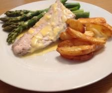 Beurre Blanc with Steamed Asparagus and Fish Fillets | Official Thermomix Recipe Community #Thermomix #Varoma