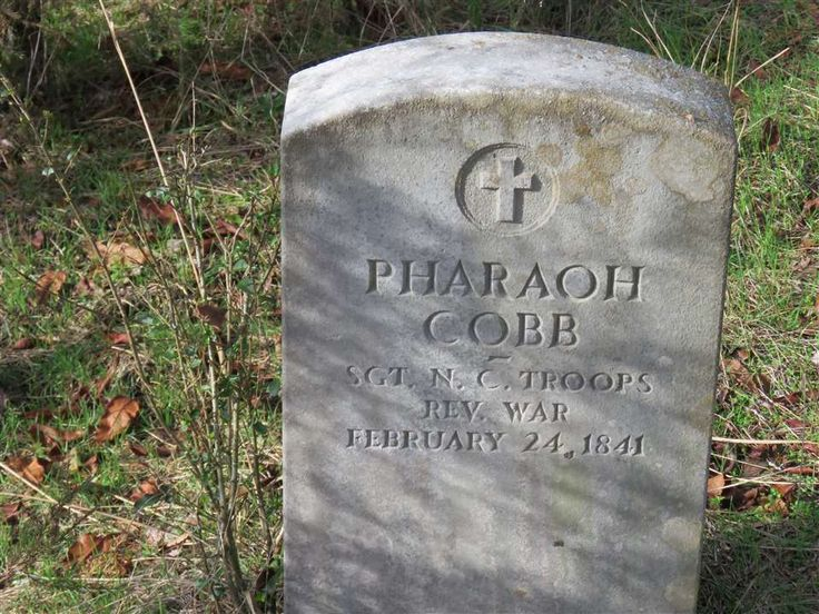 Pharaoh Cobb, who fought in the battle of Kings Mountain, was the son of William Cobb who settled Rocky Mount in modern day Piney Flats in 1769. He is buried on the site of his plantation which is now the Davy Crockett Boy Scout camp near Whiteburg.