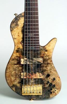 Fodera bass guitar.
