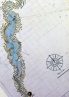 The first detailed map of the Swan River, drawn by François-Antoine Boniface Heirisson in 1801