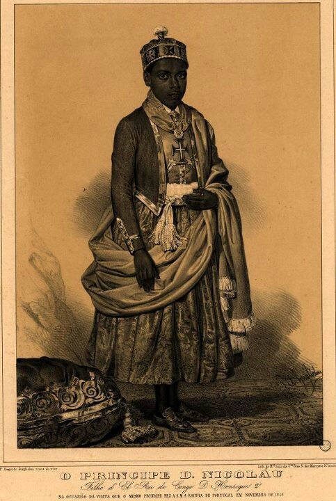 Prince Nicolau - Kingdom of Kongo (c.1830 - 1860).   Dom Nicolau was perhaps the earliest African leader who wrote publicly to protest colonial influences.