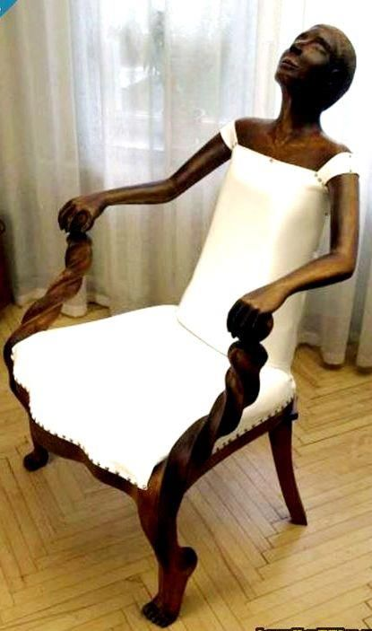 Creepy chair I found on FB. I suggested that if you sit in the chair you become the chair until the next person sits then it releases your soul. : person chair - Cheerinfomania.Com
