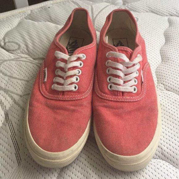 Coral vans Coral vans Vans Shoes Sneakers