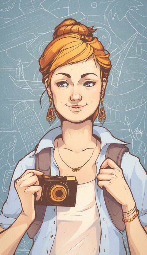 Illustrations by Vika Zobenko, via Behance
