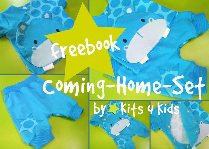 freebook coming-home-set, babyset, free download, kits4kids, freebook nähen baby