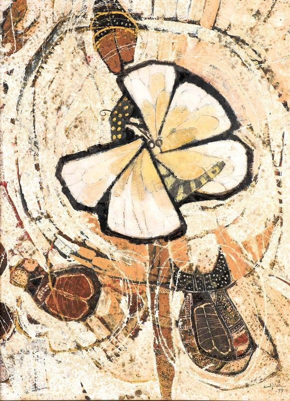 Clifton Pugh ~ Moth, 1977