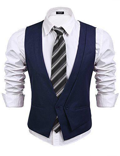 74242a56abcc2b Coofandy Men s Suit Vest