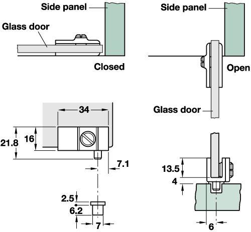 90  glass door pivot hinge  for inset doors   H fele UK LtdBest 25  Glass hinges ideas only on Pinterest   Glass door hinges  . Glass Cabinet Door Hinges Uk. Home Design Ideas