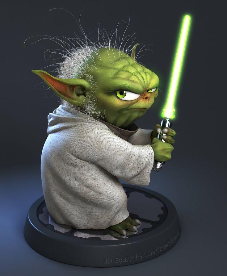 Yoda Character Design : Yoda luis gomez guzman on artstation at http