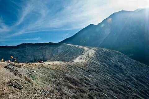 Kawah ijen mountain east java indonesia