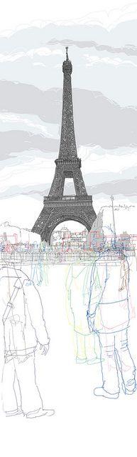 Paris-Eiffel tower_50x180 by Rupert.vanwyk, via Flickr