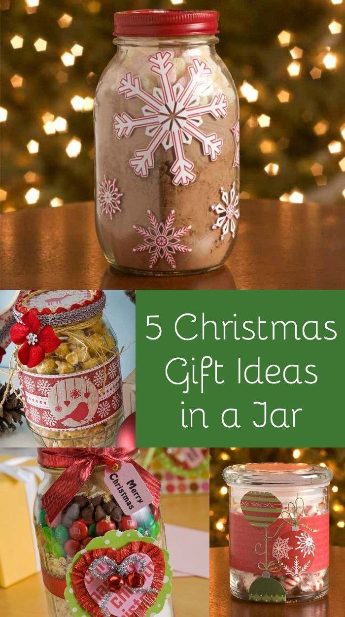 Gifts in a jar are easy to make and people love them! Here are 5 simple ideas for Christmas that anyone can make.
