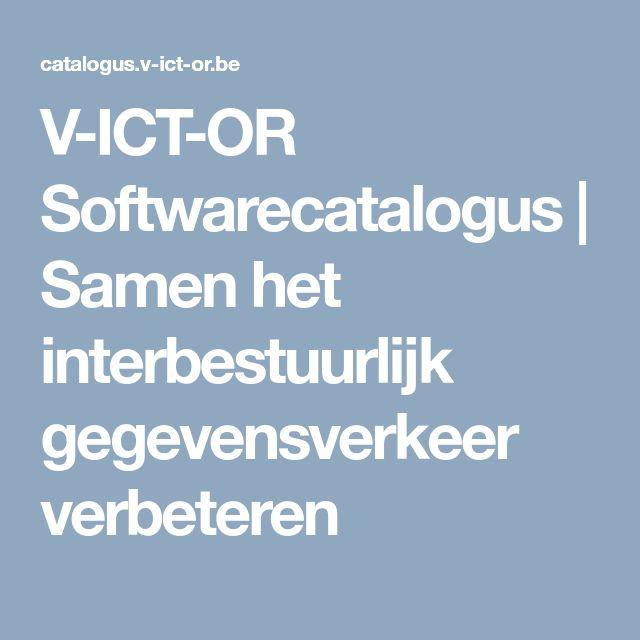 V-ICT-OR Softwarecatalogus | Samen het interbestuurlijk gegevensverkeer verbeteren