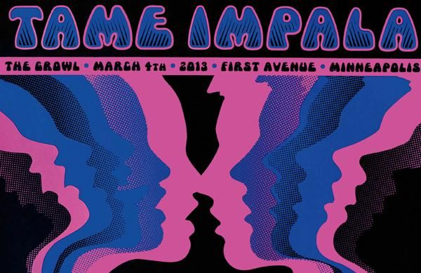 Tame Impala Poster Concert Slow Rush 11 X 17 Inches Wide Growler In 2020 Poster Tame Impala Tame Impala Concert