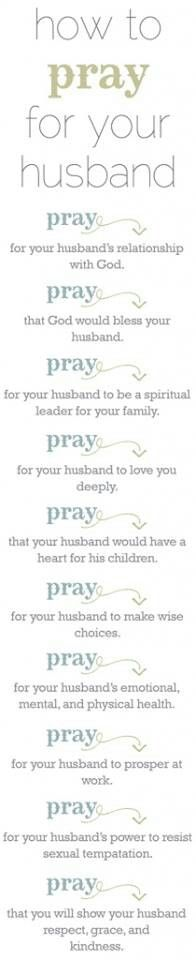 Why wait until you are married to pray for you husband? God knows who it is, so pray for your husband now even if you have not met him yet!