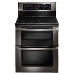 LG Black Stainless Steel Series  6.7 CU. FT. CAPACITY ELECTRIC DOUBLE OVEN RANGE WITH EASYCLEAN® #LG Limitless Design, #Contest