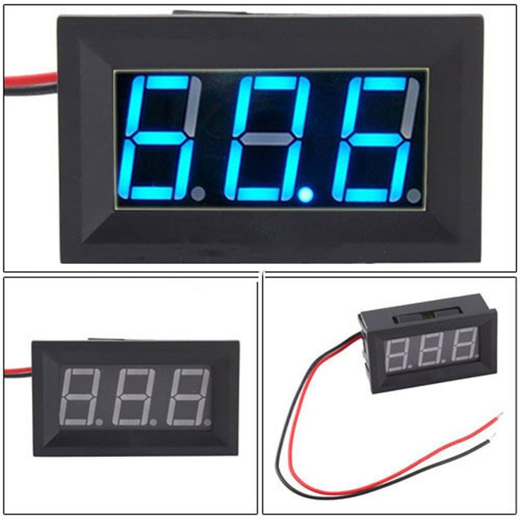 Dependable Fashion DC4.5-30V 2 Wire Blue LED Panel LED Display Voltage Meter Voltmeter Ap6 dropshipping #CLICK! #clothing, #shoes, #jewelry, #women, #men