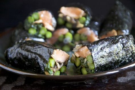 Seaweed is a powerhouse of nutrition, and these wraps are a great way to get it: Seaweed Wrapped Seared Salmon Rolls. Sub fresh or dried hot pepper for the sugary Tiger Sauce, and use 12 oz. salmon to serve 2.