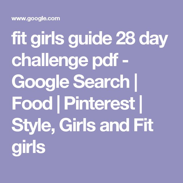 The 25 best fit girls guide pdf ideas on pinterest fit girls fit girls guide 28 day challenge pdf google search food pinterest style fandeluxe Image collections