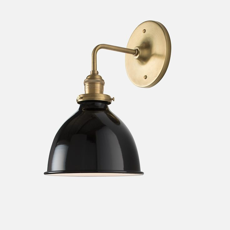 "School House Electric Satellite Sconce 2.25"" $129.00 Price is fixture only, does not include shade.  Wall mount fixture; May be mounted with socket facing up or down. Due to the minimal projection from the wall, shades wider than 9"" will not fit this fixture.  SKU: 254.0056.2         Product Origin: USA         Max Wattage: 100         UL Listed: Yes         Fixture Dimensions: 6"" extension         Canopy Width: 5"" diameter         Fitter Size: 2.25         Shades That Fit: 2.25"