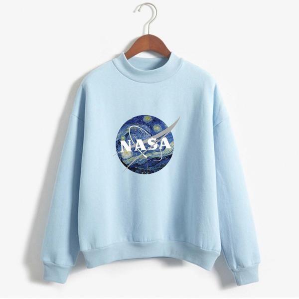 """NASA: STARRY NIGHT"" MOCKNECKS An interesting combination of impressionism and modern technology."