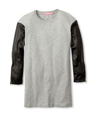 82% OFF Isaac Mizrahi Girl's Contrast Sleeve Dress (Heather Grey)