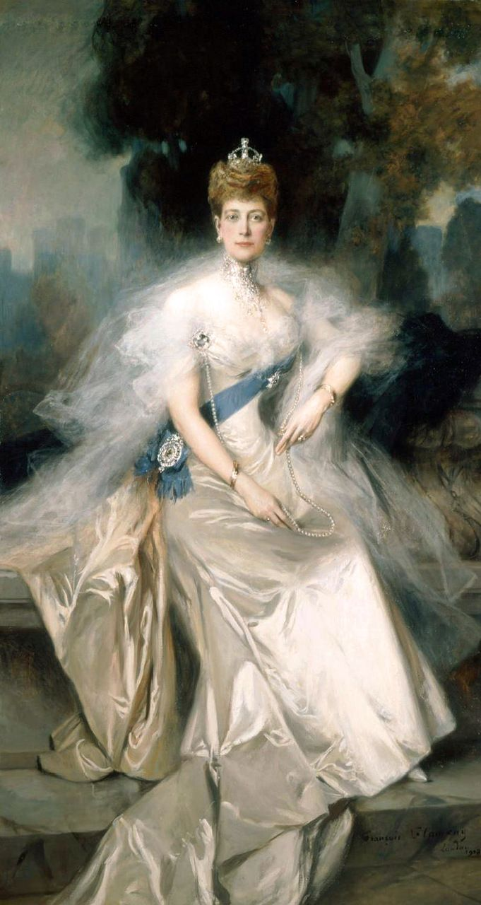 Portrait of Queen Alexandra by François Flameng (French 1856–1923)