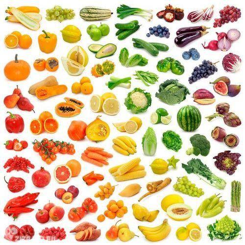 くだもの野菜のグラデーション
