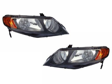 Honda Civic Sedan Headlights OE Style Replacement Headlamps DriverPassenger  -- Continue to the product at the image link.