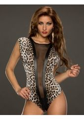 Body leopard patterns and fine mesh.