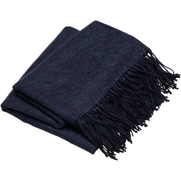Sova by SLPR Decorative Soft Indoor/Outdoor Throw Blanket for Beach,... ($20) ❤ liked on Polyvore featuring home, bed & bath, bedding, blankets, dark blue throw, travel throw blanket, navy blanket, indoor outdoor blanket and navy blue throw