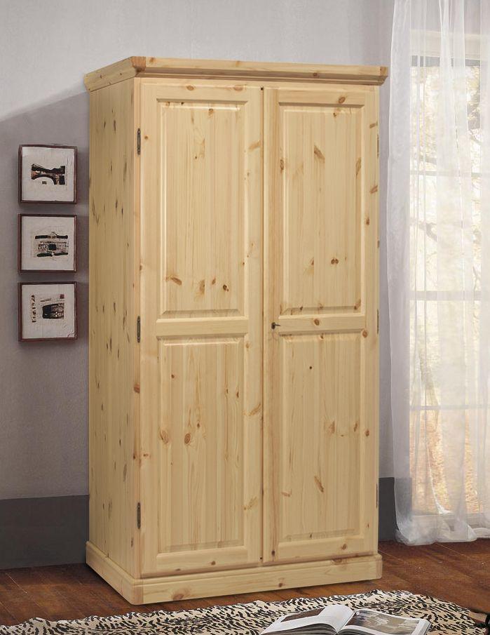 Armadio rustico in legno di pino massiccio di svezia www for Piani di armadio california