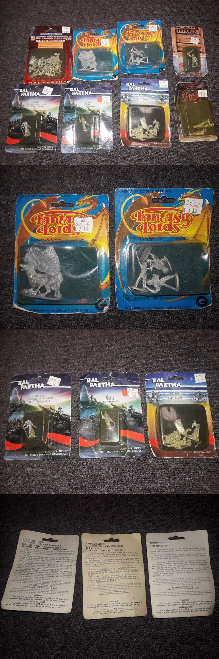 Ral Partha 16489: Lot Of 8 Vintage Mini Figurines (Ral Partha And Others) -> BUY IT NOW ONLY: $40 on eBay!