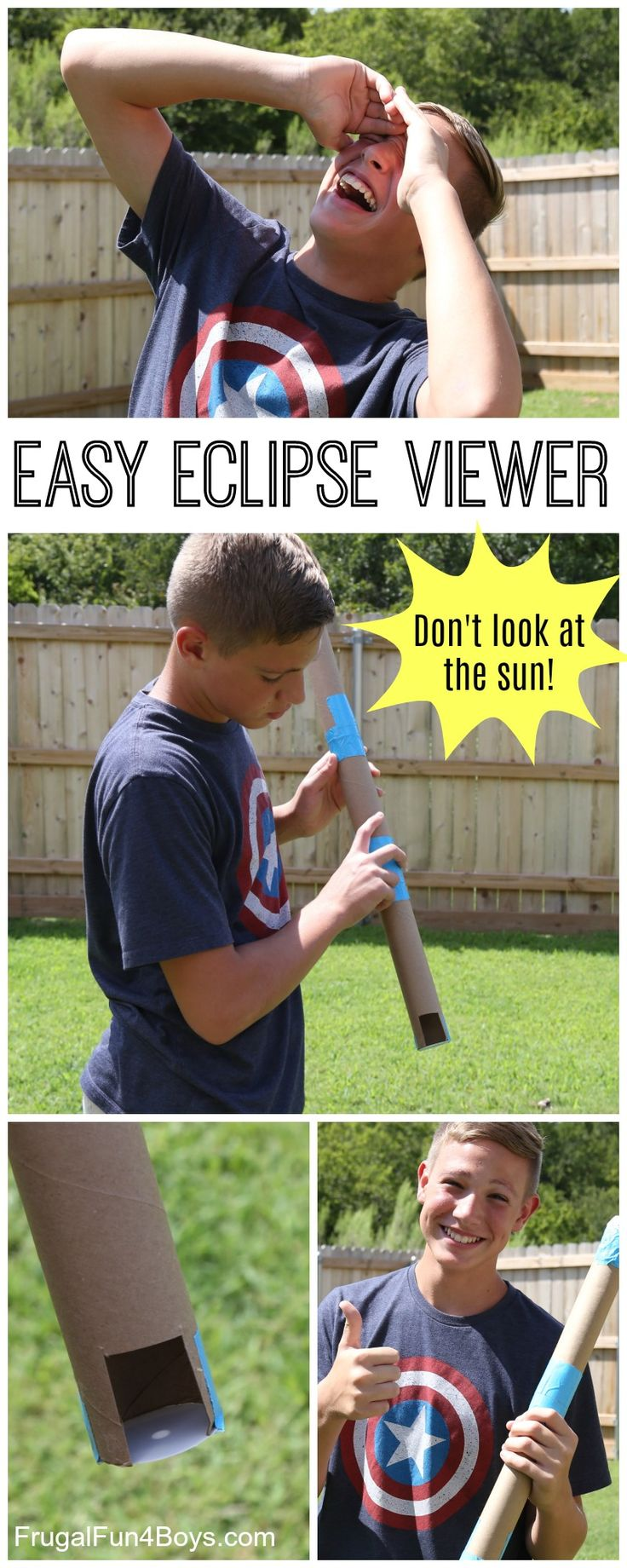 Make an Easy and Safe Pinhole Eclipse Viewer - View the solar eclipse without looking at the sun