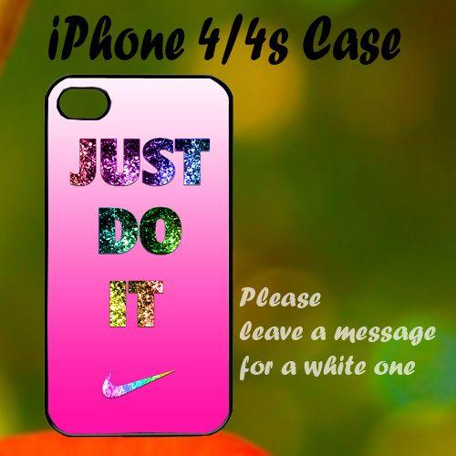 Nike Just Do It Pink Cute iPhone 4 / 4s Case, Plastic Case, Best Case