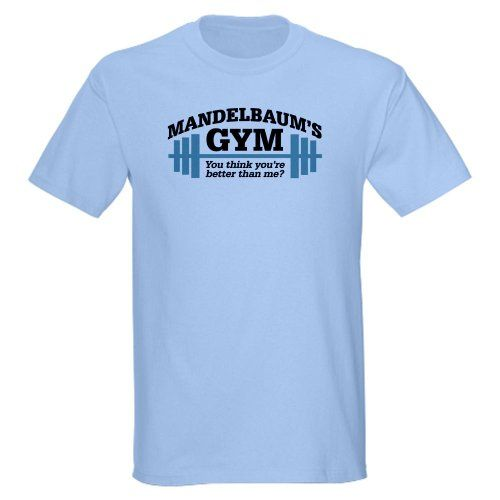 Seinfeld: Mandelbaums Gym Funny Light T-Shirt by CafePress - L Light Blue