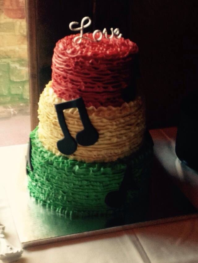 Rasta wedding cake                                                                                                                                                      More