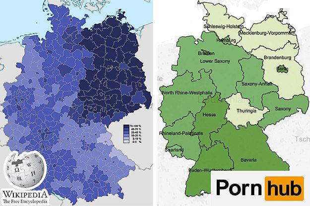 19 Landkarten, die Dir eine komplett neue Sicht auf Deutschland geben