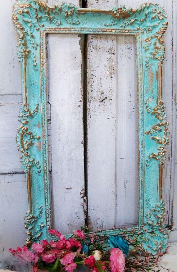 "Vintage Craft Blessings ideas~""Hattie's Vintage Crafts""~Vintage picture frame"