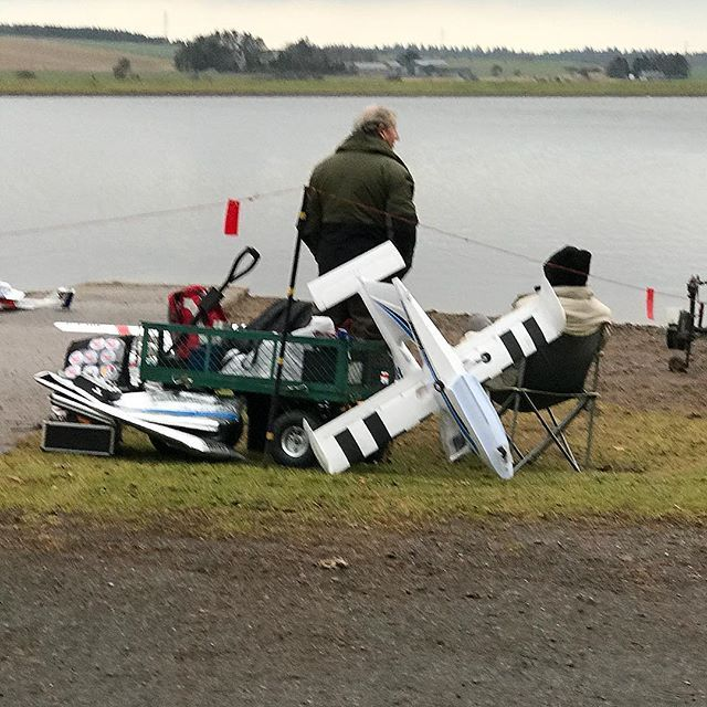 Had fun watching the model airplanes doing stunts today