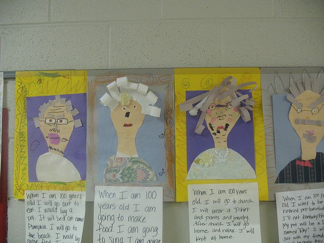 when I am 100.... Great penmanship/creative writing exercise for 100th day of school.