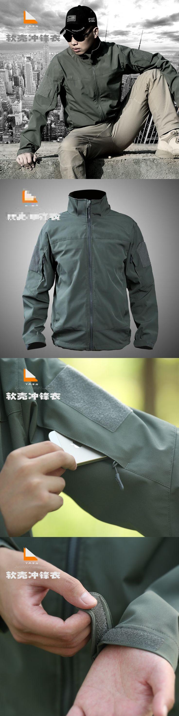 Army Camouflage Coat Military Jacket Man Waterproof Windbreaker Tactical Softshell Hoodie Jacket Army Clothing
