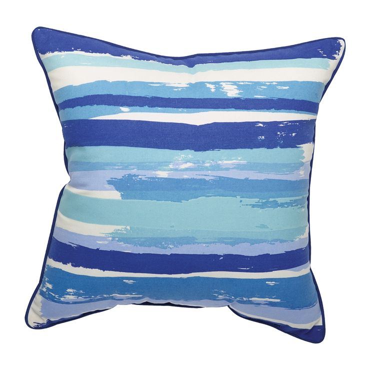 Shop allen + roth  Campanula Striped Outdoor Throw Pillow at Lowe's Canada. Find our selection of outdoor pillows at the lowest price guaranteed with price match + 10% off.