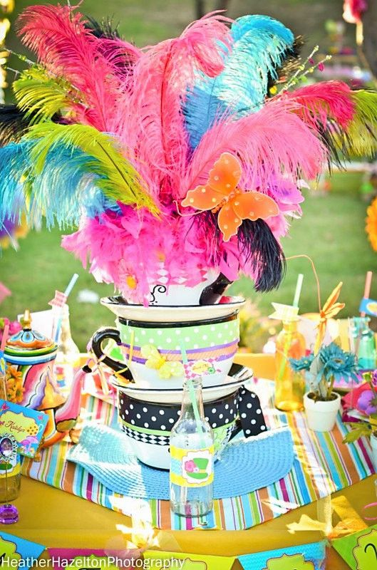 "Welcome to KROWN KREATIONS & CELEBRATIONS! Your guests are going to be simply ""Mad"" over the newest party collection featuring our Mad Hatter Tea Party inspiration. The colors and graphics in this col"