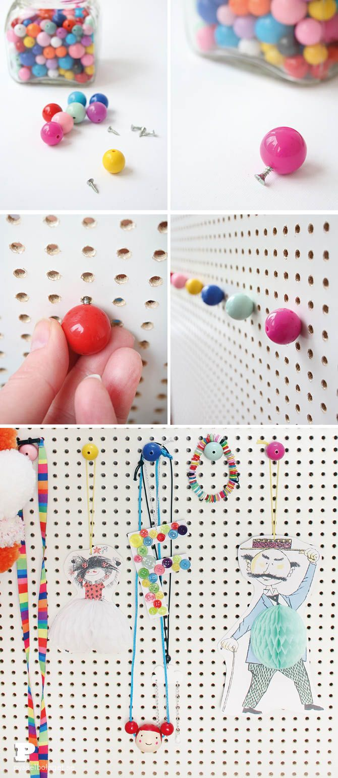 DIY Hooks for Pegboard by Pysselbolaget