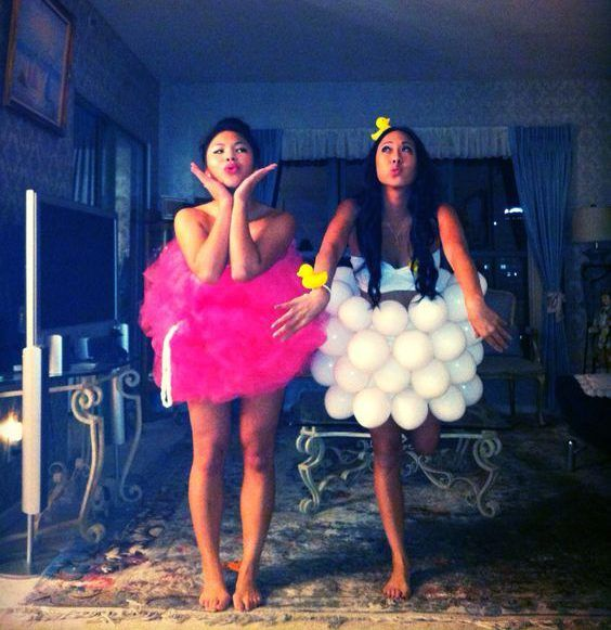 Schaumbad Kostüm selber machen | Kostüm Idee zu Karneval, Halloween & Fasching